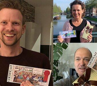 Ondanks Coronacrisis toch 3 deelnamecertificaten uitgereikt! (HOERA!)
