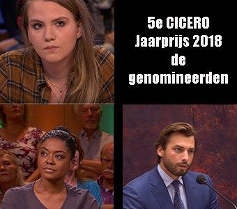 Thierry Baudet, Natacha Harlequin en Anne-Fleur Dekker genomineerd voor de 5e CICERO   Jaarprijs 2018
